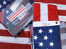 Valley Forge US American Flag 3'x5' sewn Perma- Nylon 100% Made in America USA