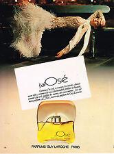 PUBLICITE ADVERTISING 015  1979  GUY LAROCHE  parfum J'AI OSE