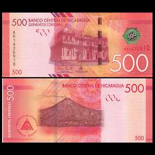 Nicaragua 500 Cordobas, 2014(2015), P-215, A prefix, UNC