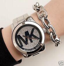 Original Michael Kors Uhr Damenuhr MK5544  Runway XL Farbe:Silber Kristall NEU