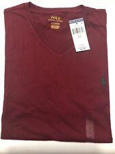 New Polo Ralph Lauren Mens Classic V Neck T-Shirt L Classic Wine