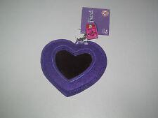 Lego ® Friends Miroir Forme de Coeur Violet 10x10 cm + Brique Porte Bonheur NEW