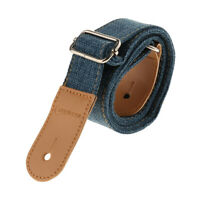 1pc Ukulele Strap Belt with PU Leather Ends for Music Lovers Gift -Blue