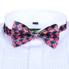 1 x bow tie bowtie mens ladies british flag union jack england suit shirt uk new