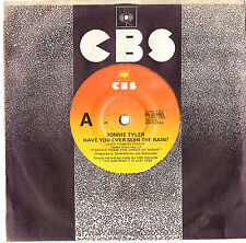 """BONNIE TYLER - HAVE YOU EVER SEEN THE RAIN? - 7"""" 45 VINYL RECORD 1983"""