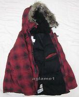 Last1 Thick Ralph Lauren Denim Supply Red Check Snorkel Down Coat jacket Parka L