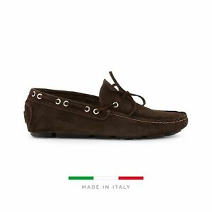 Sparco Magny-Cours-GP1 Brown Shoes Moccasins in Suede