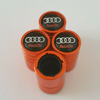 AUDI Orange Valve Dust caps all models 13 colours Ask NON STICK S LINE RS TT S3