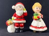 "Homco 5401 Mr. & Mrs. Santa Claus Children 5-1/2"" Tall"