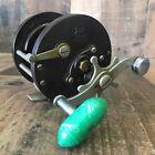 Vintage Penn No. 85 Fishing Reel Green Bakelite - FOR PARTS/ REPAIR
