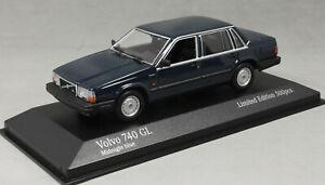Minichamps Volvo 740GL 744GL Saloon in Midnight Blue 1986 943171703 1/43 NEW