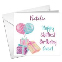 Funny rude PERSONALISED Isolation Birthday Card Sister Daughter Friend Anyone!
