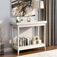 Console Table Side End Table Shelf Storage Wooden Hall Desk Living Room Hallway