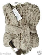 Waffelpique Sauna-Robe De Chambre Peignoir sable XL/XXL Stonewashed halbleinen