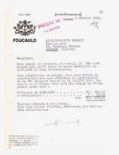"""COGNAC (16) ALCOOL / COGNAC """"Lucien FOUCAULD"""" en 1960"""