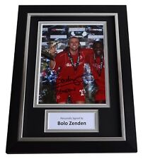 Bolo Zenden Signed A4 FRAMED Autograph Photo Display Middlesbrough Football COA
