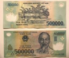 More details for vietnam dong - 500,000 x1 circulated polymer vietnamese bank note