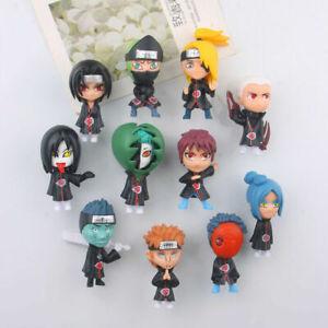 11Pps Mini Cute Naruto Dolls Akatsuki Sasuke Anime Model Figure Car Decoration