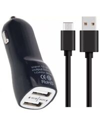 Dual In Car Charger Type C USB Fast Charger Cable For Sony Xperia L2/xa2/L1/Xz
