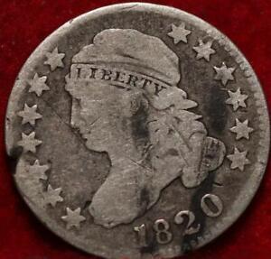 1820 Philadelphia Mint Silver Capped Bust Dime