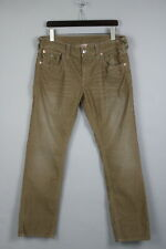 TRUE RELIGION RICKY Men's W34 Polyester Blend Small Corduroy Trousers 19848_JS