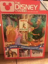 Disney Channel Magazine Ex Condition~ June 1985 Robin Hood