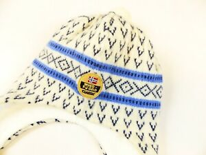WINDFJORD CLASSIC NORWAY 100% PURE NEW WOOL HAT WINTER SKI WARM WINTER CAP (M/L)