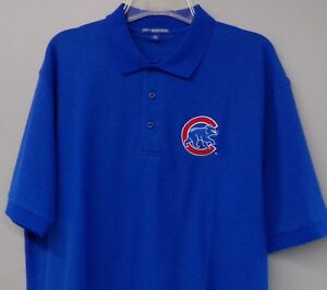 Chicago Cubs MLB Baseball Embroidered Mens Polo Shirt Size XS-6XL, LT-4XLT New