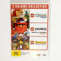 LEGO Chima + Ninjago Kids DVD TV Series 3 Disc Set Free Postage Region 4 AUS