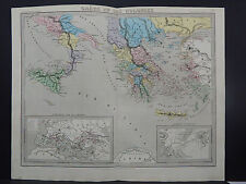 Antique Map, 1843, Grece Et Ses Colonies (Greece and its Colonies)