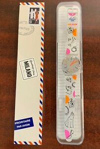 """DESTINATION SWATCH Greetings from MILANO Italy in Box GZ330 """"LIMITED"""""""