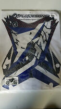 Flu Designs TS1 YZ250F YZ 250 F Blue Sticker Kit 2010-2013 With Seat Cover