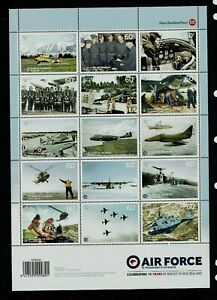 New Zealand: 2012 75th Anniversary of the RNZAF, MNH sheetlet