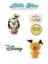 * LIMITED EDITION * Disney * Hallmark Itty Bittys Bitty X2 * Pluto & Goofy *