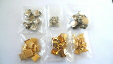96 Assorted METAL STUDS NAILHEADS Silver & Gold Tone Leather Crafts Decoration
