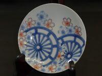 """Japanese Blue & white NABESHIMA PLATE 2 : EDO : 5.9 × 1.8 """"  240g"""