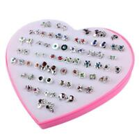 36 Pairs/Lot Mixed Colors Charming Crystal Flower Earring Piercing Ear Studs