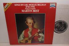 Nimbus 45019 Songs Of Carl Michael Bellman Sung In English Martin Best SAM45 RPM