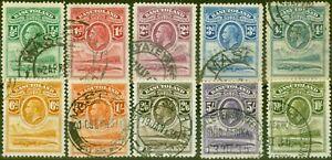 Basutoland 1933 Set of 10 SG1-10 Fine Used
