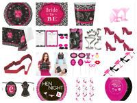 Bridal Bash Hen Night Party Plates Napkins Cups Confetti Sash Banner Bunting New