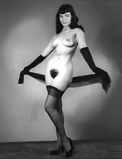 Bettie Page Vintage Poster Art Reproduction 1950's Black & White Print A4 No.11
