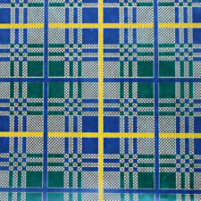 Printed Tissue Paper - Blue Plaid Pattern - 240 Sheets