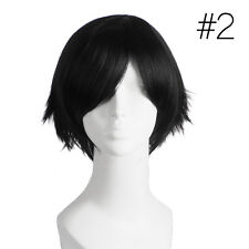 Unisex Boy's Girl's Straight Short Hair Wig Cosplay Party Anime Full Wigs Wig