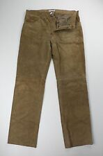 Dolce & Gabbana Mens Brown Leather Pants Jeans EU 50 US 33 34 x 34  $2995 Italy