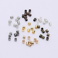1.5-2.5mm DIY Beading Wire Connectors Tube End Crimp Beads Spacers 500pcs
