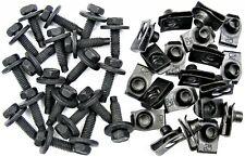 """Jeep Body Bolts & U-nut Clips- 5/16-18 x 1-3/16""""- 1/2"""" Hex- 40 pcs (20ea)- #375F"""