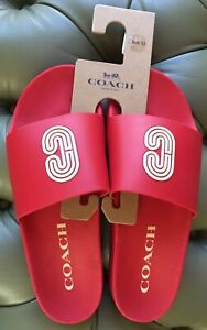 COACH SLIDE W/ COACH PATCH:NWT/NEW (other:see note) GREEN or RED 9D or 10D G4920