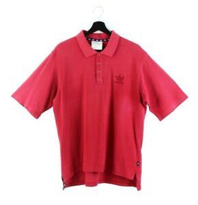 90s adidas Originals vintage polo t-shirt tshirt tee red trefoil men OG L XL