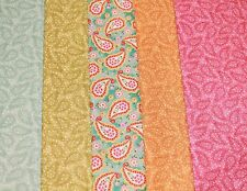 Choice Fabrics - BLOOMING PAISLEY Tonal and Floral Paisley - 5 x Fat Quarters