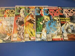 Moon Knight #2,3,4,5,6,7 Bronze age lot of 6 VG+ to Fine+